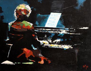 """"""" Gamme boy"""" (Scales boy) 80x100cm  oil on canvas"""