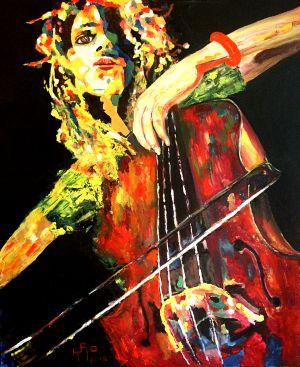 """""""Volupté  à la colophane"""" (Rosin sensuousness) 100x120cm  oil on canvas"""