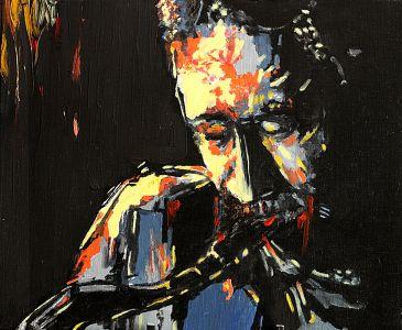"""""""Musique à la clé"""" 40x50cm huile sur toile"""