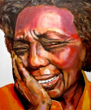 """""""En  pleurs"""" (in tears),   40x50cm  oil on canvas"""