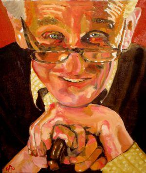 """""""Père tranquille""""(quiet father) 40x50cm  oil on canvas"""