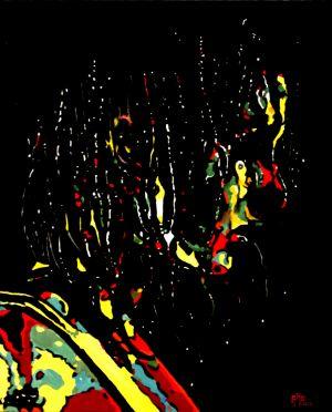 """""""Parure de geai"""" (Jay finery)  80X100cm    oil on canvas"""