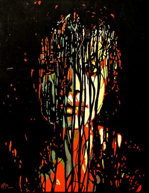 """Prison capillaire"" (Hairs jail) 80x100cm  oil on canvas"