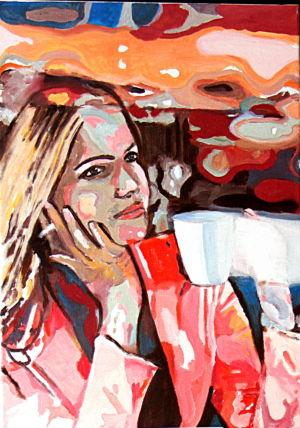 Reflet d'espoir (《想往》) 50x70cm 布面油画