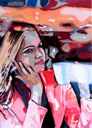 Reflets  d'amour  50x70 cm huile sur toile