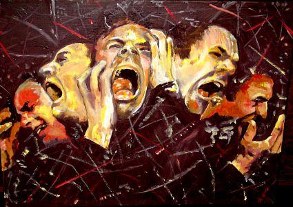 """En scène"" (On stage) 40x50cm    oil on canvas"