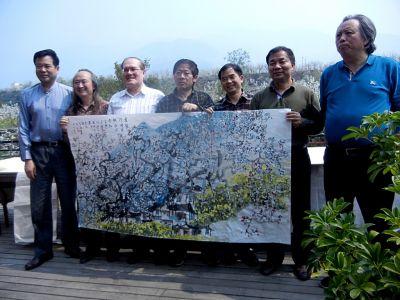 Tableau-commun avec des peintres chinois à Haiyuan (Chine) - 2013