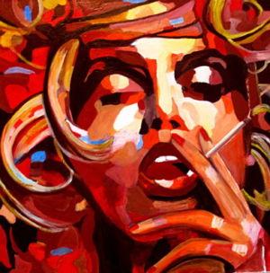 Volutes (swirls) 2020 oil on canvas 80x80cm